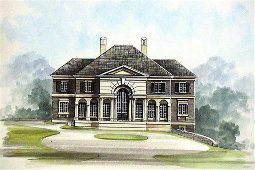 4-Bedroom, 4001 Sq Ft Contemporary House Plan - 106-1113 - Front Exterior