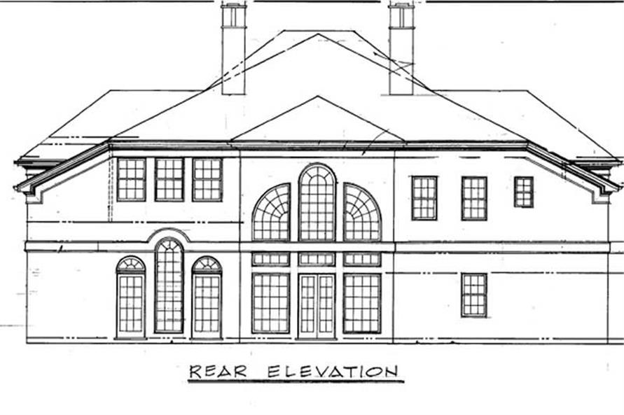 Home Plan Rear Elevation of this 4-Bedroom,4001 Sq Ft Plan -106-1113