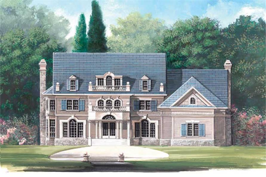 4-Bedroom, 3385 Sq Ft European House Plan - 106-1115 - Front Exterior