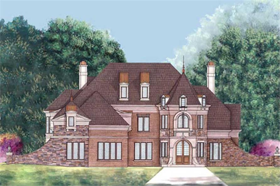 4-Bedroom, 3376 Sq Ft European House Plan - 106-1116 - Front Exterior