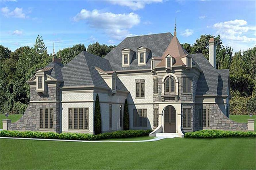 Home Plan Rendering of this 4-Bedroom,3376 Sq Ft Plan -3376