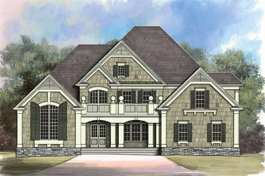 4-Bedroom, 3363 Sq Ft European Home Plan - 106-1117 - Main Exterior