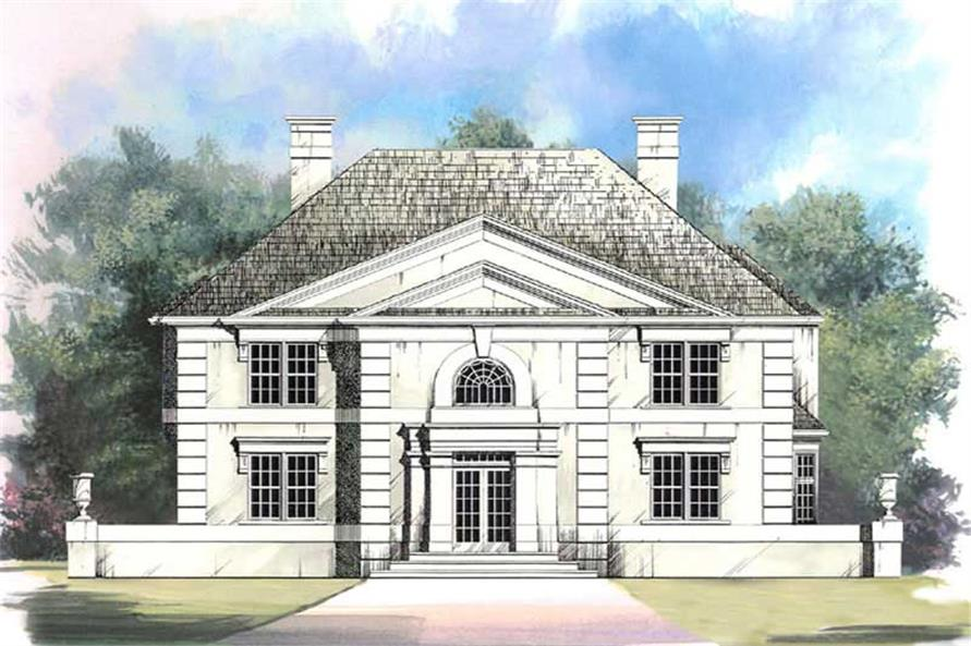 4-Bedroom, 2663 Sq Ft European Home Plan - 106-1120 - Main Exterior