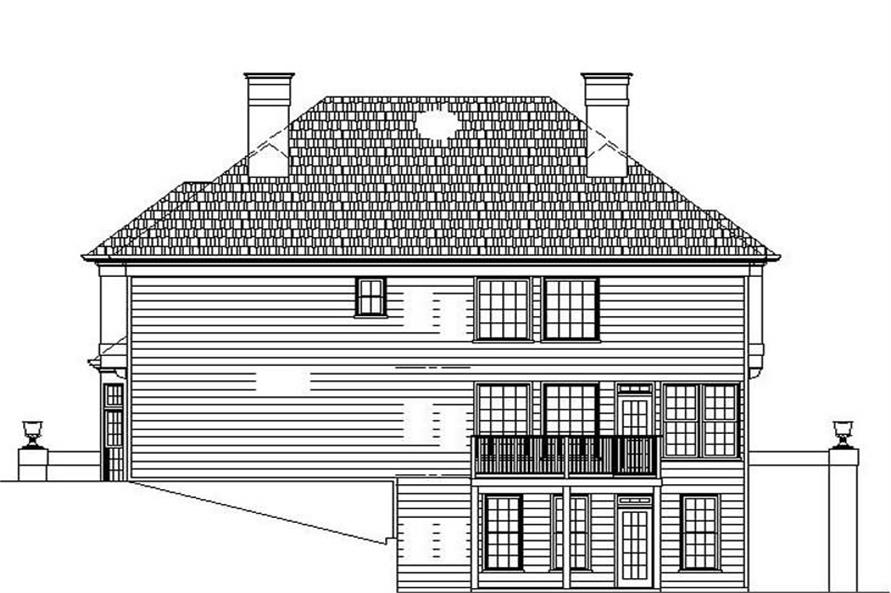 Home Plan Rear Elevation of this 4-Bedroom,2663 Sq Ft Plan -106-1120
