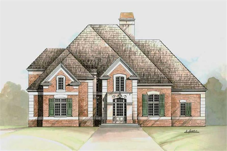 4-Bedroom, 3155 Sq Ft European House Plan - 106-1121 - Front Exterior