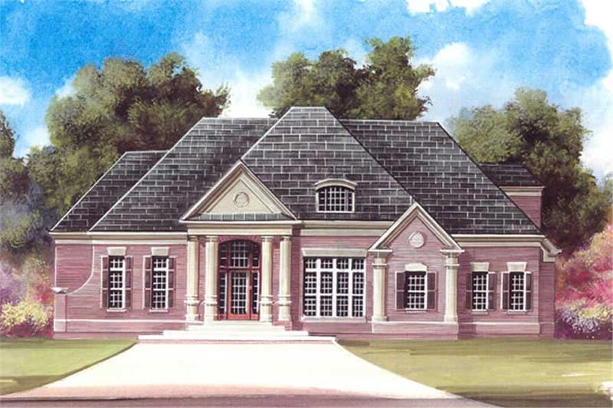 3-Bedroom, 2571 Sq Ft European Home Plan - 106-1123 - Main Exterior