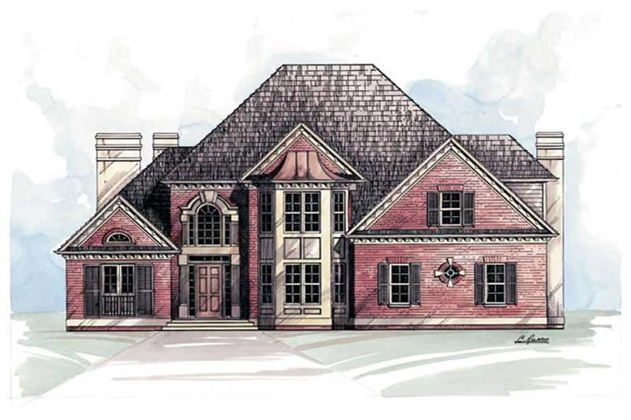 4-Bedroom, 2491 Sq Ft European House Plan - 106-1125 - Front Exterior