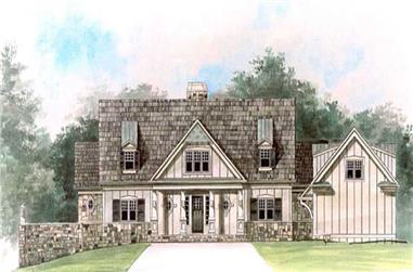 4-Bedroom, 2757 Sq Ft Cottage House Plan - 106-1129 - Front Exterior