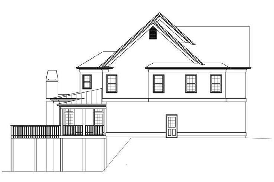 Home Plan Left Elevation of this 5-Bedroom,2943 Sq Ft Plan -106-1131