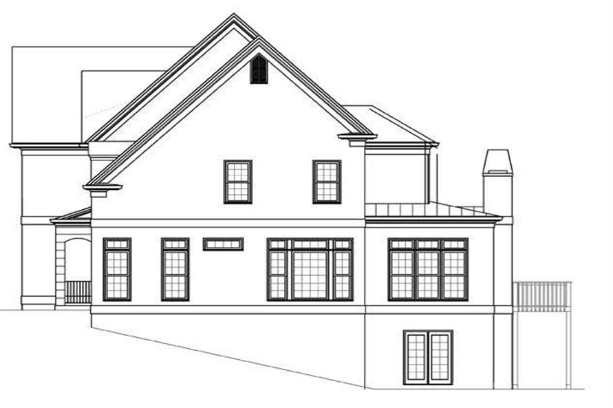 Home Plan Right Elevation of this 5-Bedroom,2943 Sq Ft Plan -106-1131