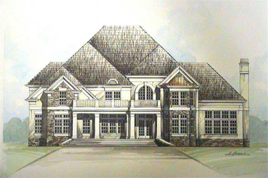 4-Bedroom, 3247 Sq Ft European Home Plan - 106-1133 - Main Exterior