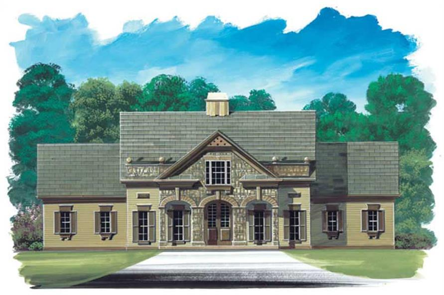 3-Bedroom, 2594 Sq Ft European House Plan - 106-1135 - Front Exterior