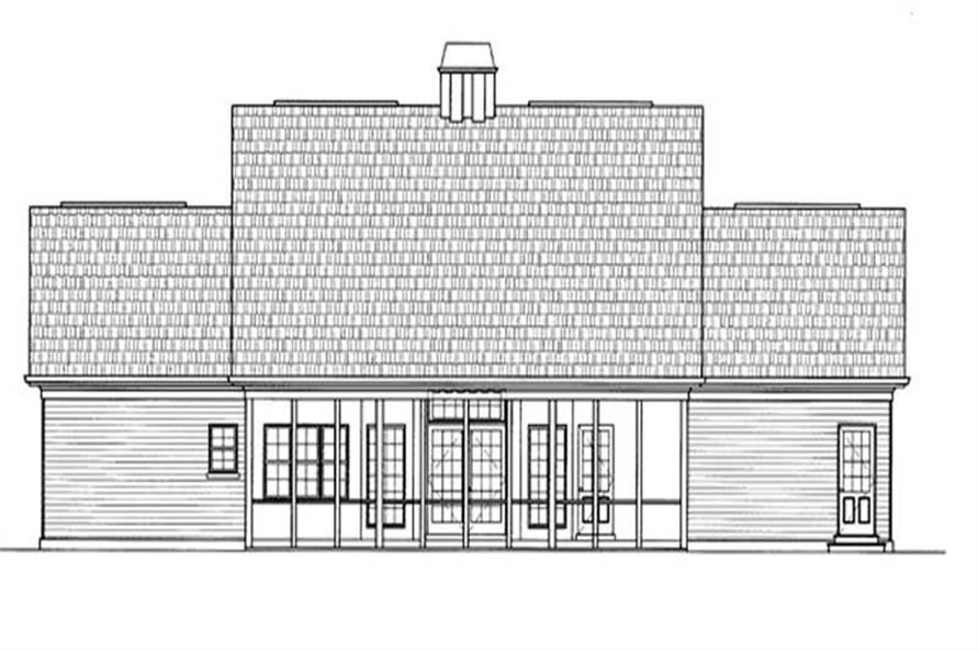 Home Plan Rear Elevation of this 3-Bedroom,2594 Sq Ft Plan -106-1135