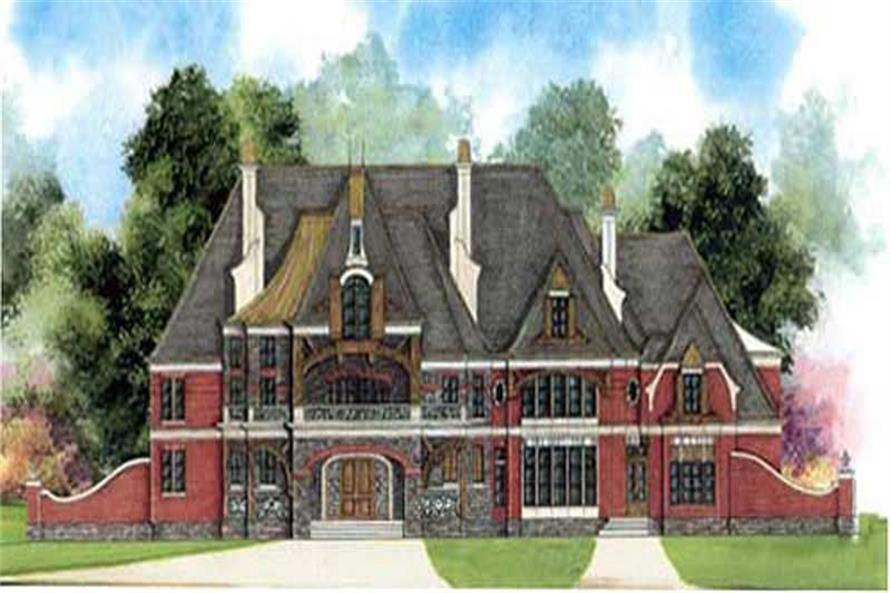 5-Bedroom, 8789 Sq Ft European Home Plan - 106-1136 - Main Exterior