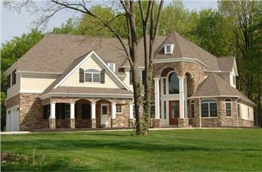 5-Bedroom, 4765 Sq Ft Colonial Home Plan - 106-1138 - Main Exterior