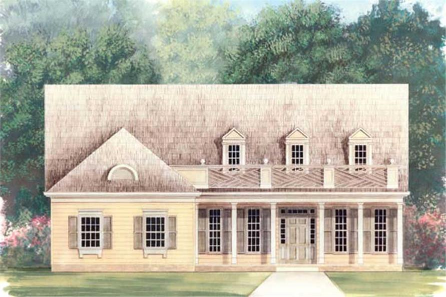 3-Bedroom, 1746 Sq Ft European Home Plan - 106-1140 - Main Exterior