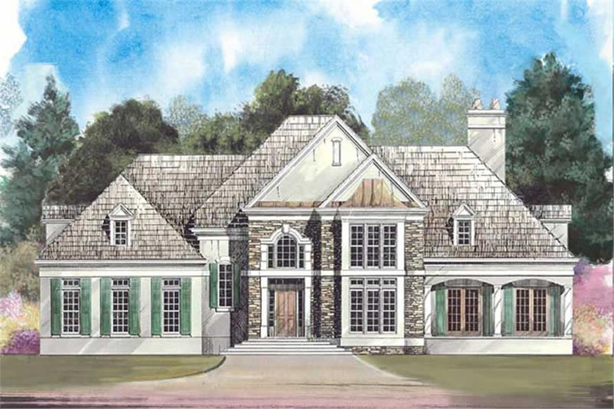 4-Bedroom, 3040 Sq Ft European House Plan - 106-1143 - Front Exterior