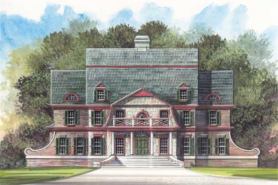 4-Bedroom, 3054 Sq Ft European House Plan - 106-1145 - Front Exterior