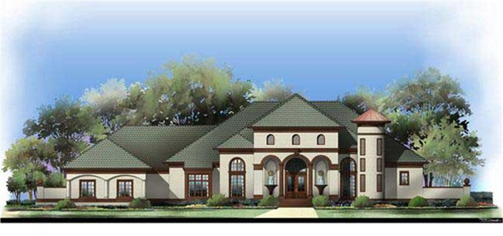 Home Plan Rendering