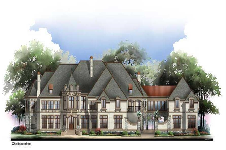 6-Bedroom, 7618 Sq Ft European House Plan - 106-1147 - Front Exterior
