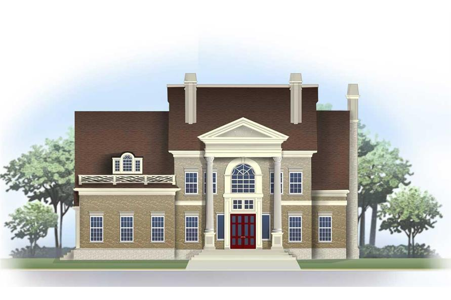 4-Bedroom, 3890 Sq Ft Colonial Home Plan - 106-1148 - Main Exterior