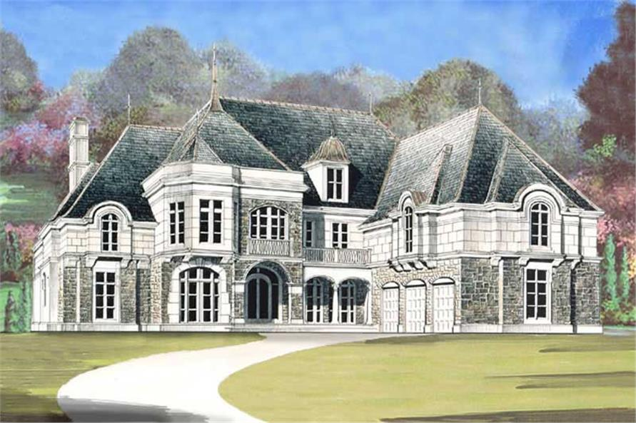 5-Bedroom, 7830 Sq Ft European House Plan - 106-1149 - Front Exterior