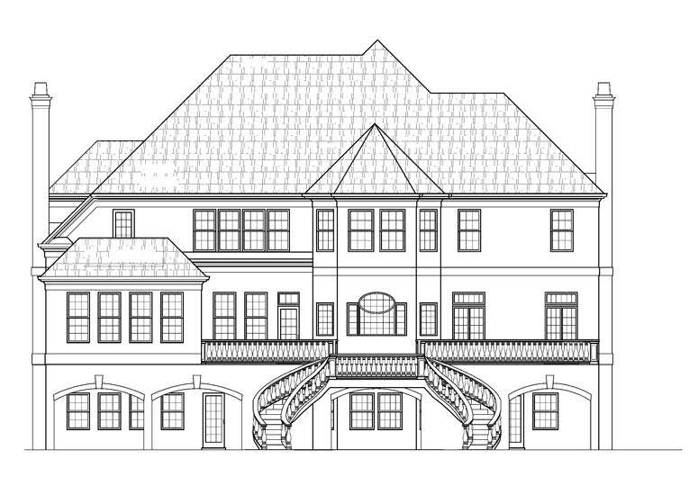 European French Home With 5 Bdrms 5115 Sq Ft Floor