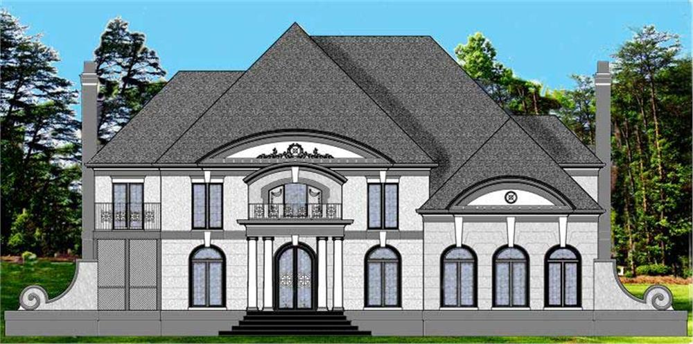 This is a colorful elevation for these Luxury Homeplans.