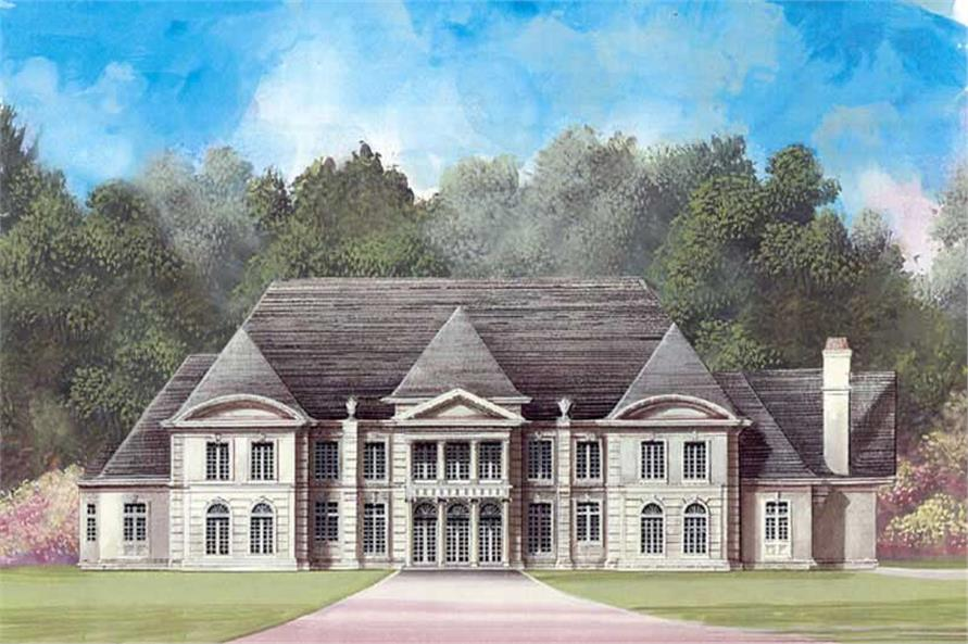 FRONT ELEVATION of this 5-Bedroom,6970 Sq Ft Plan -6970