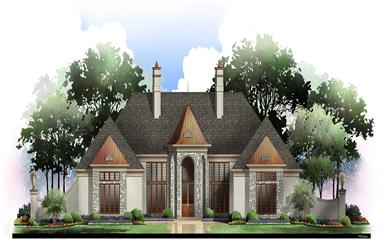 3-Bedroom, 2275 Sq Ft European Home Plan - 106-1153 - Main Exterior