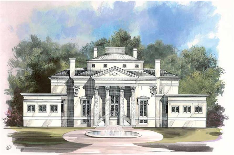 Colonial european home with 3 bdrms 5730 sq ft house for Colonial luxury house plans
