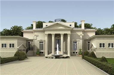 3-Bedroom, 5730 Sq Ft European Manor - Plan #106-1154 - Front Exterior