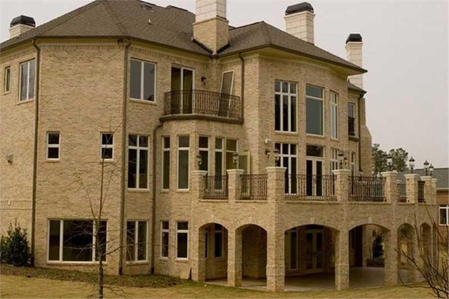 House Plan rear photo