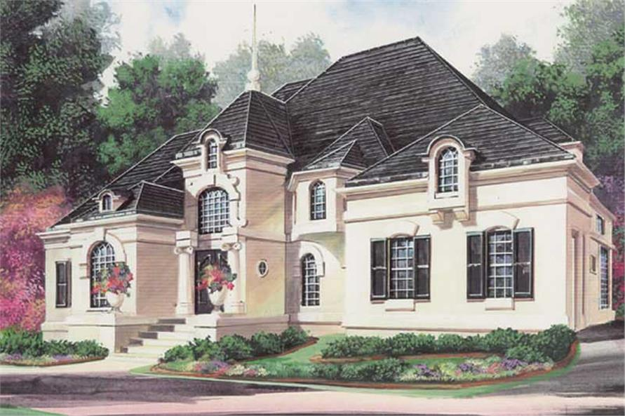FRONT ELEVATION of this 5-Bedroom,4553 Sq Ft Plan -4553
