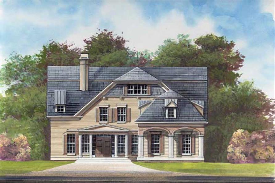 3-Bedroom, 2505 Sq Ft European House Plan - 106-1160 - Front Exterior