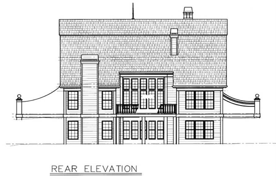 Home Plan Rear Elevation of this 3-Bedroom,2505 Sq Ft Plan -106-1160