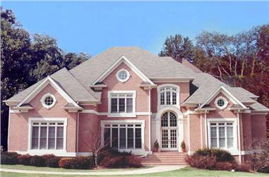 Front elevation of Colonial home (ThePlanCollection: House Plan #106-1161)