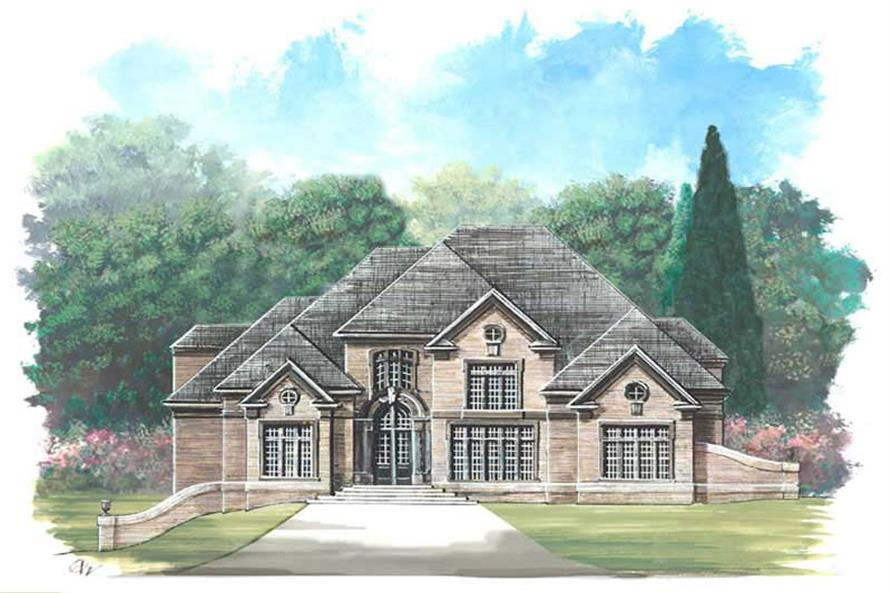 Home Plan Rendering of this 5-Bedroom,4195 Sq Ft Plan -106-1161