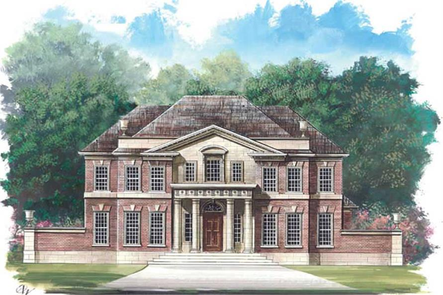 5-Bedroom, 3283 Sq Ft Colonial Home Plan - 106-1162 - Main Exterior