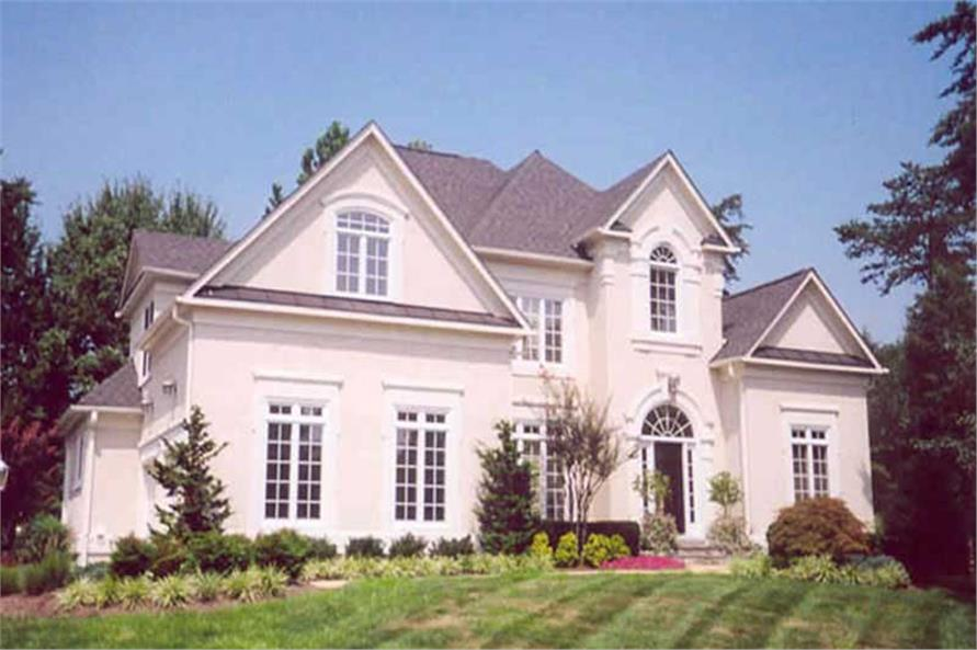 4-Bedroom, 2707 Sq Ft European Home Plan - 106-1163 - Main Exterior