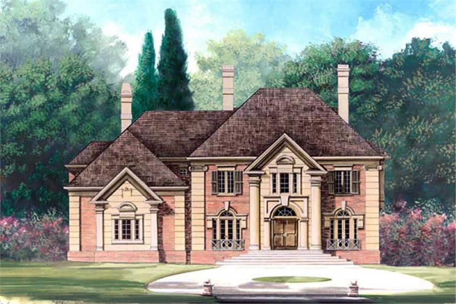 Home Plan Rendering of this 5-Bedroom,3497 Sq Ft Plan -106-1164