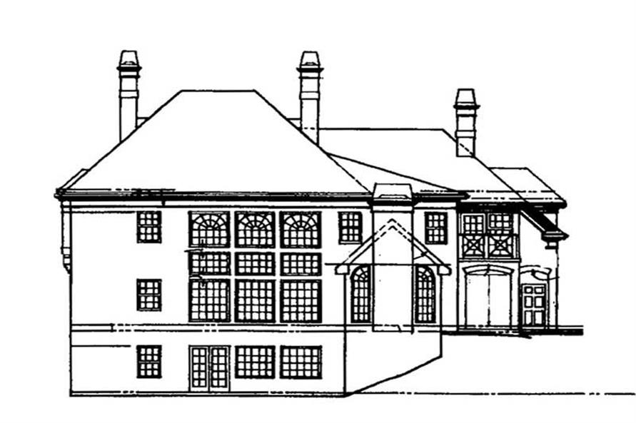 Home Plan Rear Elevation of this 5-Bedroom,3497 Sq Ft Plan -106-1164