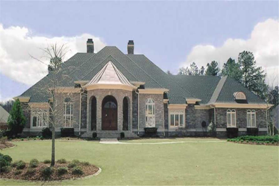 Home Plan Rendering of this 4-Bedroom,5082 Sq Ft Plan -106-1165