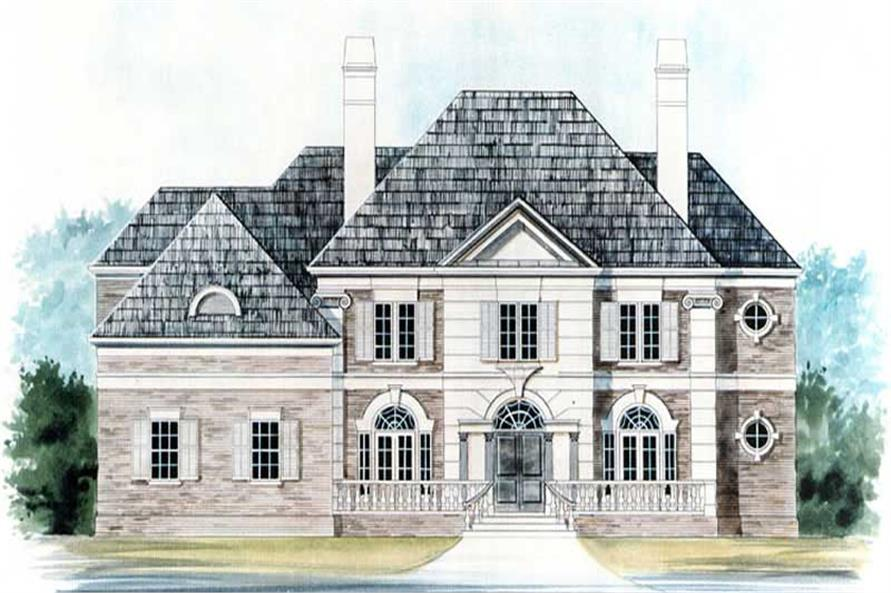 FRONT ELEVATION of this 4-Bedroom,4364 Sq Ft Plan -4364
