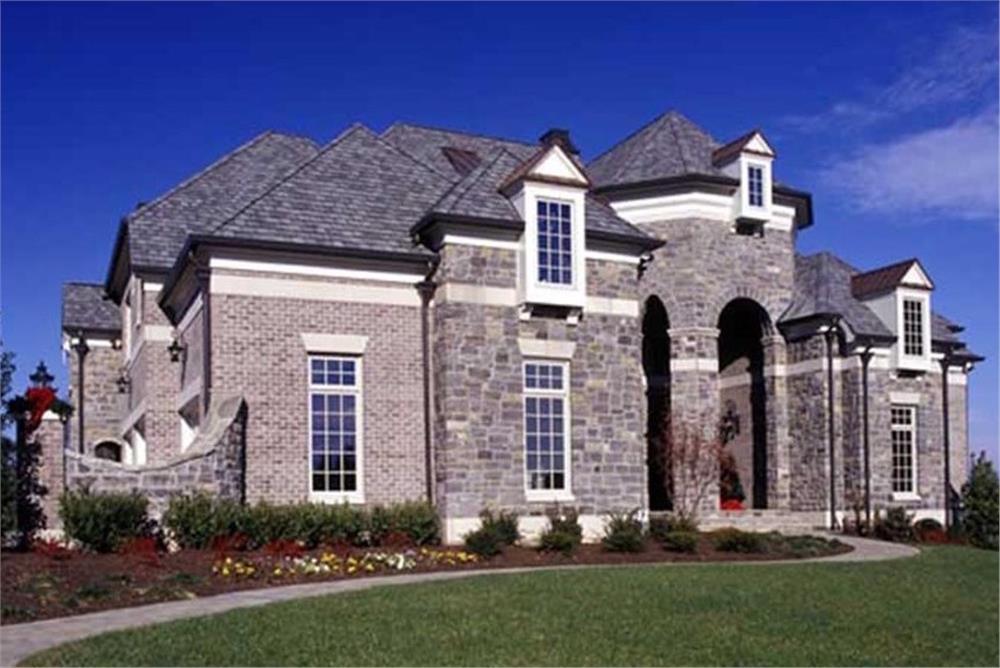 European home plan (ThePlanCollection: House Plan #106-1167)
