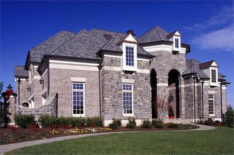 4-Bedroom, 4041 Sq Ft European Home Plan - 106-1167 - Main Exterior