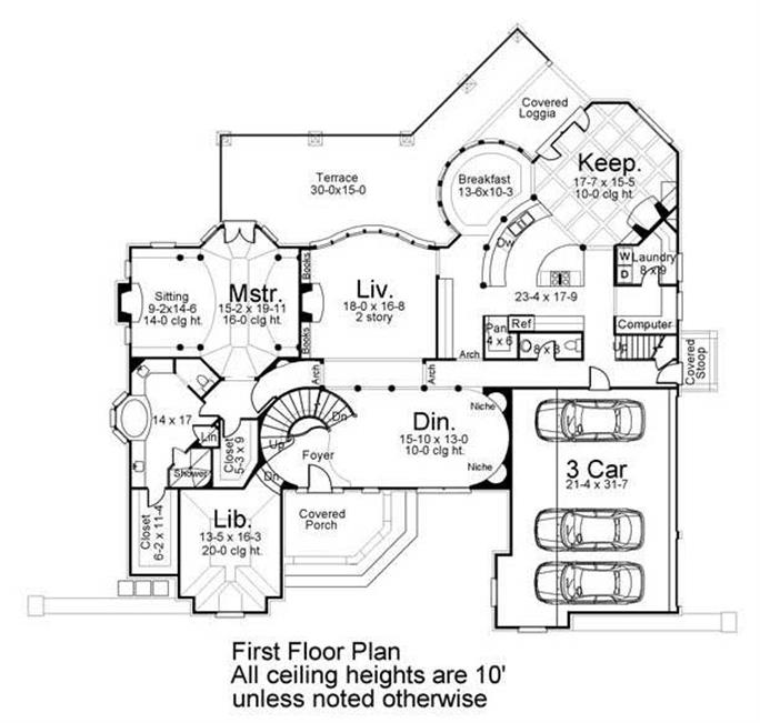 European French Home with 4 Bedrooms House Plan 106 1167