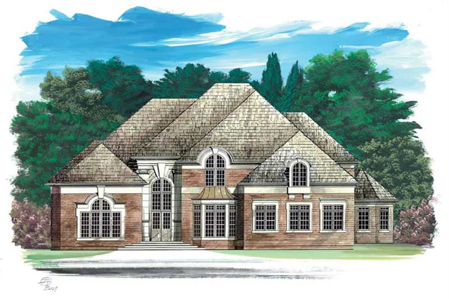 FRONT ELEVATION of this 4-Bedroom,3542 Sq Ft Plan -3542