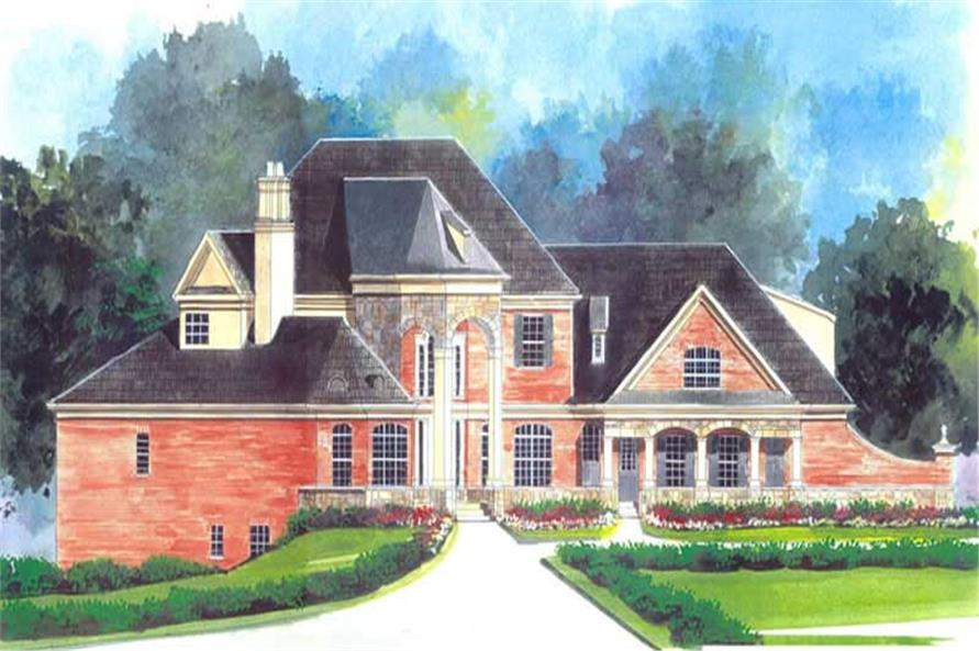 FRONT ELEVATION of this 4-Bedroom,3912 Sq Ft Plan -3912