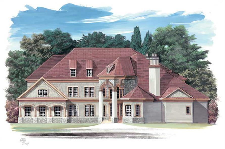 3-Bedroom, 2979 Sq Ft European Home Plan - 106-1170 - Main Exterior